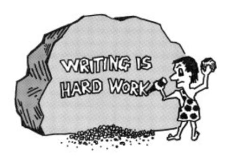 writing hard work
